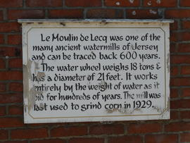 Sign outside Le Moulin de Lecq