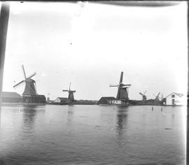 Industrial windmills in the Zaan region, Holland
