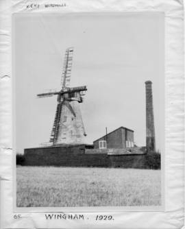 Tower mill, Wingham, and adjacent chimney stack