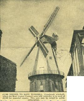 """£2,500 needed to save windmill"""