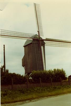 Unidentified preserved post mill, Belgium, summer 1971