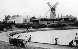 Arun Mill, Littlehampton, from the boating lake