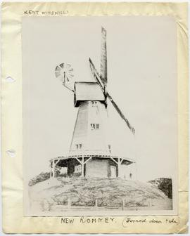 Drawing of exterior, smock mill, New Romney