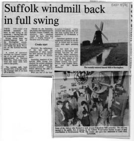 """Suffolk windmill back in full swing"""
