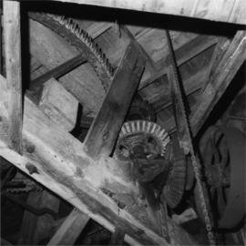 Interior showing great spur wheel, King's Mill, Shipley