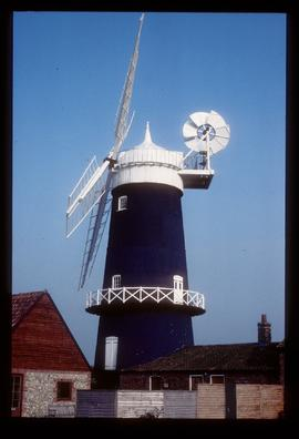 Tower mill, Great Bircham, restored with sails