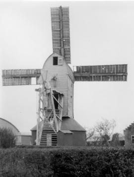 Post mill, Peasenhall, with shutters closed