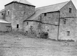 Abberwick Mill, Bolton, with man and boy