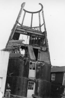 Silverhill Mill, Hastings, under demolition