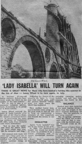 """'Lady Isabella' will turn again"""
