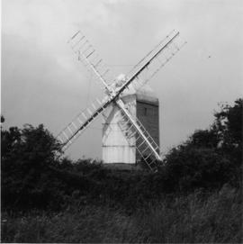 Jill Mill, Clayton, with sails