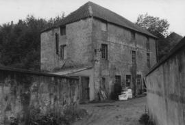 View from yard showing outbuildings, Dye Works, Wooler