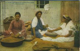 Peasants grinding corn in Jerusalem