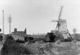 View from field, Station Mill, Aldeburgh