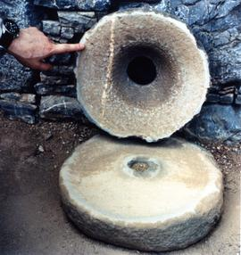 Photograph of a hand quern, Pakistan