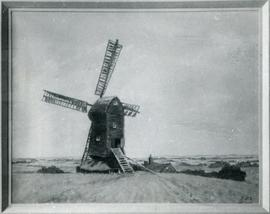 "Photograph of painting ""Far & Near""; Stevington End Mill, Ashdon"