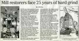 """Mill restorers face 25 years of hard grind"""