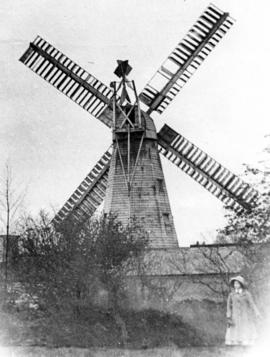 Smock mill, Crowfield, when in working order