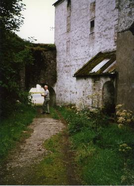 Photograph of Niall Roberts outside Castlebridge watermill, Wexford, Ireland
