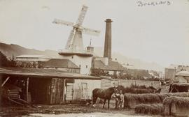 Buckland Brewery Mill, Dover, with chimney to the right