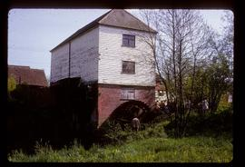 Preserved watermill building with wheel