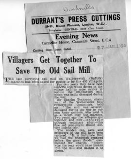 """Villagers get together to save the old Sail Mill"""