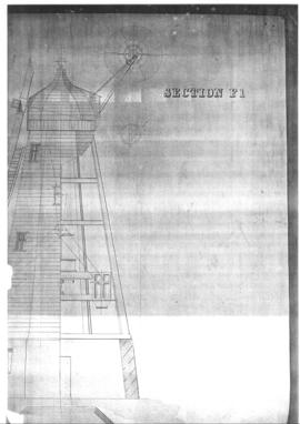 Section and elevation of smock mill