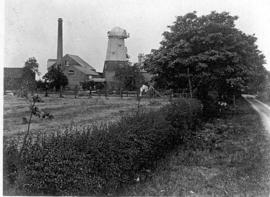 Chesterton Mills and buildings from track