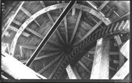 Interior of roof of cap, tower mill, Wellingore