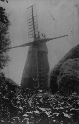 Cemetery Mill, Soham, and haystack