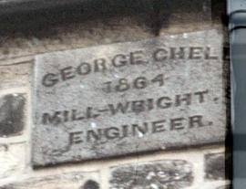 Wall plaque of George Chell Millwright on Heage Tower Mill