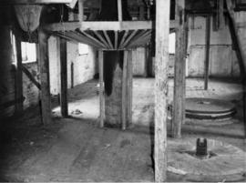 Stone floor showing guard on crown wheel, Burcombe Mill, South Newton