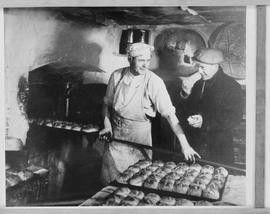 Copy of a photo showing bakers at work
