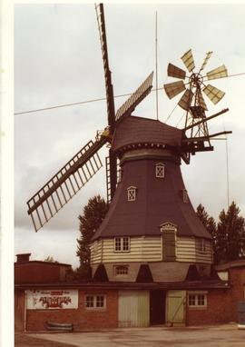Restored smock mill at Marne, West Germany