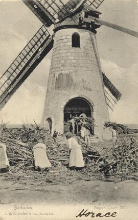 Working mill with people