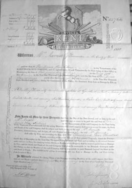 Fire insurance certificate for Hope Mill