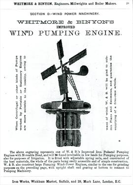 Wind Pumping Engine Advertisement