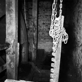 Interior showing a ratchet on a chain, Lower Burton Mill, Charminster, Dorchester