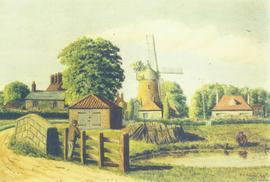 Painting of Saltfleetby Mill