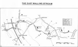 Map of East Malling Stream