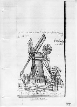 Drainage mill near Acle, Norfolk. Bk 12, no 19