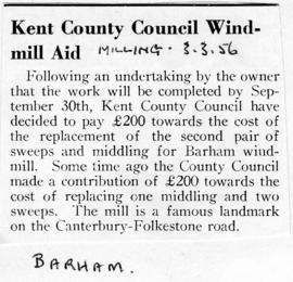 Kent County Council Windmill Aid