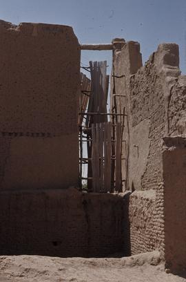 Windslit in front face, Horizontal windmill, Islam Qala, Herat