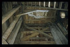 Inside view of roof of building, smock mill, Buckland