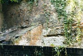 Wall with timber joist, Feather Mill, New Road, Chatham