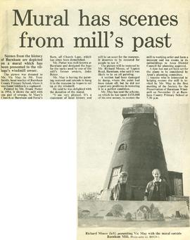 """Mural has scenes from mill's past"""