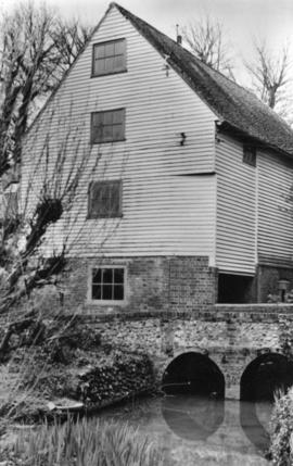 Wood's Mill, Small Dole, with the access bridge