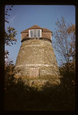 Preserved tower with dovecote on top, tower mill, East Knoyle