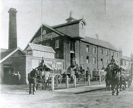 Flour Mill with horses and carts