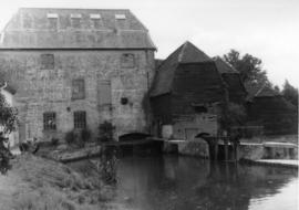 View from upstream, watermill, Wakes Colne